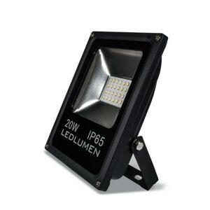 Ledlumen LED reflektor 20W SMD2835 1800lm SLIM Studená bílá LU161